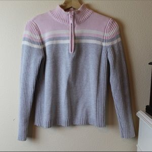 Ski Bunny Ribbed Mock Neck Sweater Sz M